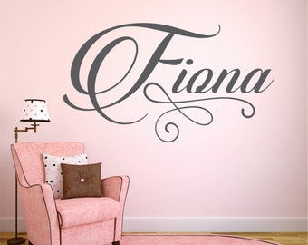 Personalzed Name Wall Decal, Wall Decal, Baby Nursery Decal, Nursery Name Decal, Personalized Decor - WD0198