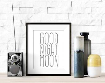 Goodnight Moon Nursery Printable Artwork - 8x10 Digital Download