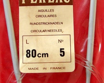 Circular needle 5mm aluminum Perlac