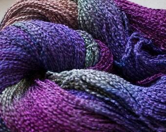 Lark, Hand-dyed Fine Rayon Boucle,, 300 yds - Vineyard