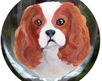 Custom Hand Painted Wine Glass ~ Cavalier King Charles Spaniel ~ Pet Keepsake ~ Anniversary Gift