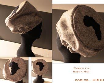 RASTA HAT, Hat for dreadlocks, cap,  African, Ethiopia,Tam, dread, headgear,reggae, Size M / L / XL. Gift for him,gift for her, accessories
