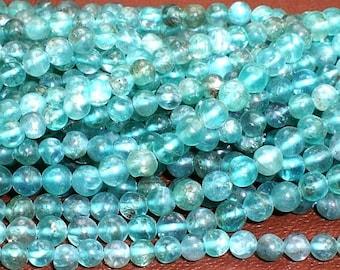 4mm Blue Apatite Beads Spacer Beads Full Strand 4/bl/ap