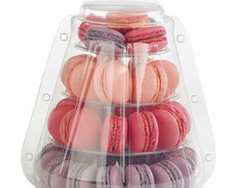 4 Tier Macaron Display Stand for French Macarons with Carrying Case - Macaron Tower