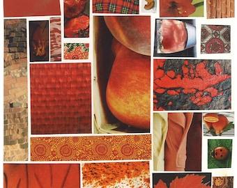 Red Mosaic Card