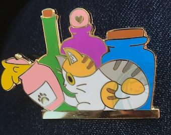 Potion Calico Cat Hard enamel pin