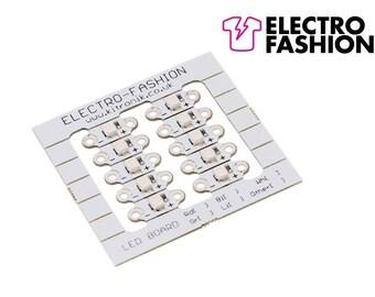 Electro-Fashion, LED Board, Blue Sewable Electronics e textiles e-textiles sewable blue leds x 10