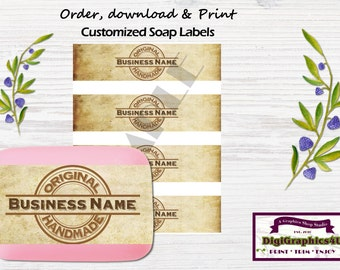 Weathered Customized Hand Soap Labels, Soap Wrappers for your Business