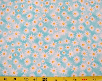 """A.E. Nathan Co.,Quilting Fabric  """"Comfy Flannel,"""" Daisies Sold by the Half Yard"""