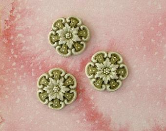 Green Medallions set of 3
