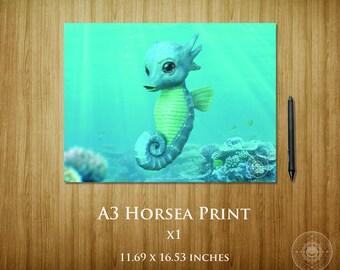 Horsea A3 Poster