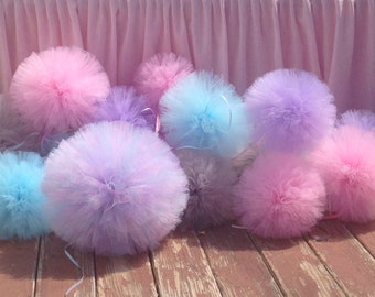 14 inch Tulle pom pom Party Decoration