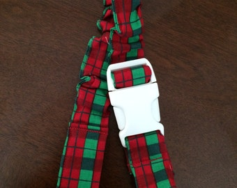 Toss-Me-Not Sippy Cup Holder, Handmade, Red and Green - Brand New!