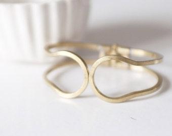 Brass spring Cuff Bracelet raw width 30mm