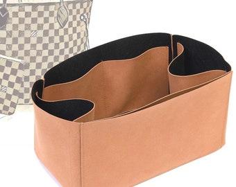 Regular Style Nubuck Leather Handbag Organizer for Neverfull