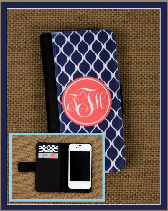 Wallet Case iPhone 7 7 Plus 5 6 6+ 6 Plus Samsung Galaxy 3 4 and 5 S3 S4 S5 Case Cell Phone Accessories Monogrammed Gift Custom Personalized