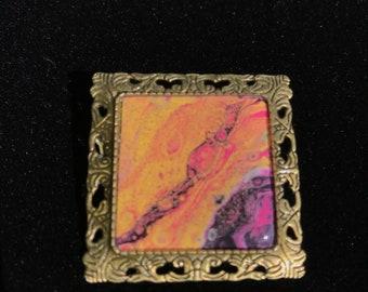 Original art brooch