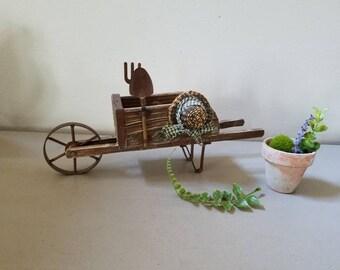 Wheel Barrow Planter Cart Garden Farmhouse Plants herbs