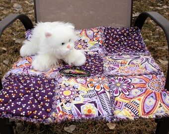 Cat Bed, Pet Blanket, Cat Quilt, Cat Travel Blanket, Purple Cat Blanket, Pet Bedding, Handmade Cat Bed, Colorado Catnip Bed, Pet Supplies