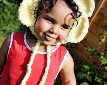 12 to 24m Flower Hat Baby Girl Flower Bonnet Daisy Flower Baby Hat Lime Green Yellow Crochet Flower Toddler Photo Prop  Christmas Baby Gift