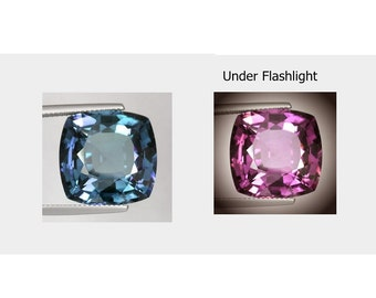 Awesome cushion facet cut color change czochralski alexandrite
