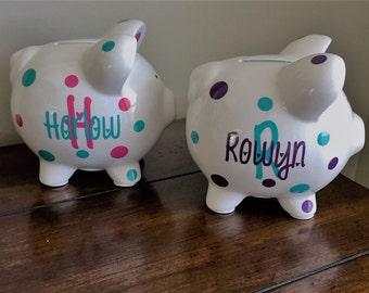 Personalized Piggy Bank, Kids Piggy Bank, Baby Shower Gift, Baby Shower Gifts, Piggy Bank, Personalized, Baby Shower, Baby Boy, Baby Girl
