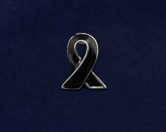 Lapel Black Ribbon Lapel Pin (RETAIL) (RE-P-06-17)