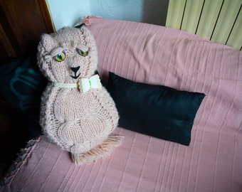 Hand made pink cat - plush