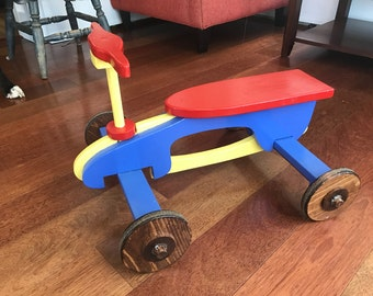 Red Rocket Riding Toy