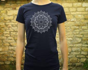 St Ives Mandala Ladies Fitted Organic T-Shirt