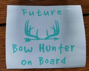 Future bow hunter on board decal