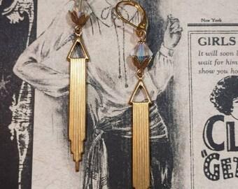 Art Deco Earrings - Art Deco Jewelry - 1920s Jewelry - Art Deco Wedding Earrings - Downton Abbey Style Jewelry - Womens Jewelry