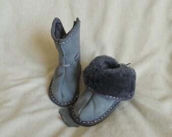 Sheepskin slippers (baby sizes)