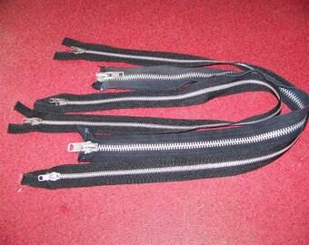 Lot of 3 Vintage Talon Black Heavy Duty 2 Way Zippers