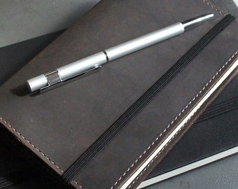 Handmade Moleskine Notebook Leather Cover - Oil Brown (FREE PERSONALIZATION)