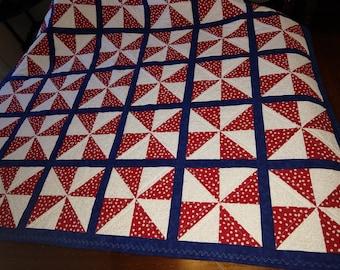 Crib quilt- pinwheels