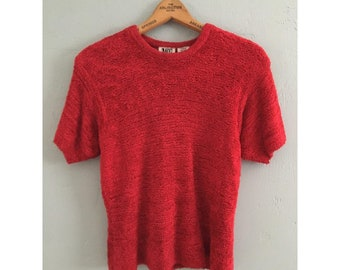 90's Fuzzy Red Top