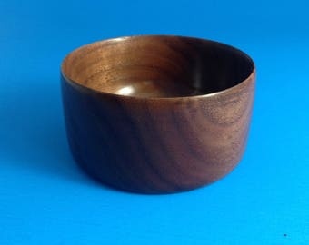 Hand turned walnut dipping sauce bowl