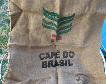 Cafe Do Brazil burlap bag