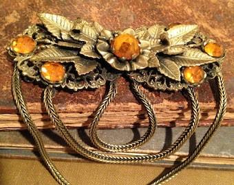 Victorian Era Ladies Belt Buckle Sash Buckle