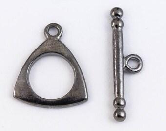 15mm Gunmetal Triangle Toggle Clasp #CLC207