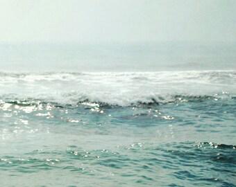 Ocean Photograph Aqua blue Teal Sea Green Coastal Shore Wall Decor Calming Ocean Water Print 8x10