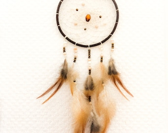 Dream catcher nature, natural feathers