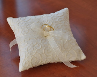 Pillow fabric couture ivory/beige waffle