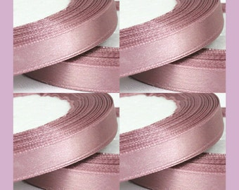 Satin Ribbon, Dusty Pink Ribbon, Dusty Pink Mauve, Pink Satin ribbon, Pink Ribbon, Wedding Ribbon, ribbon, Dusty Pink, 17 mm ribbon, Wedding