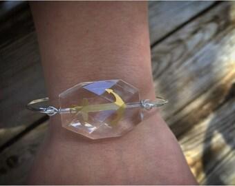 Anchor Bracelet. Nautical Jewelry. Anchor Bangle.