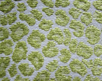 CHENILLE fabric in lime woven multipurpose fabric