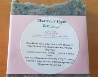 Charcoal & Rose Soap and Shampoo Bar