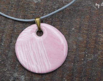 pastel necklace pattern ceramic lines engraved