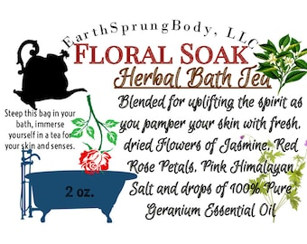 Floral Soak Herbal Bath Tea